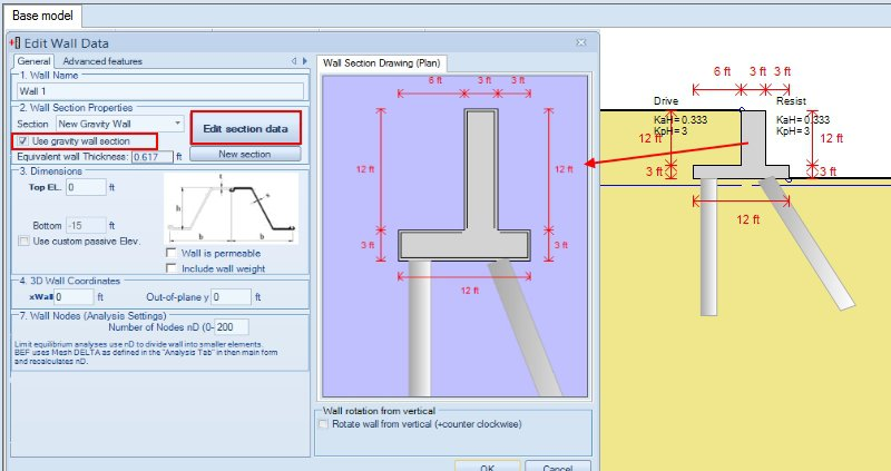 Figure 10.3.1 Edit wall properties - use gravity walls option for pile abutments.jpg